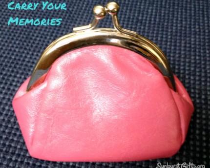pink coin purse