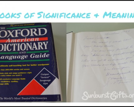 Personalized Books of Significance and Meaning
