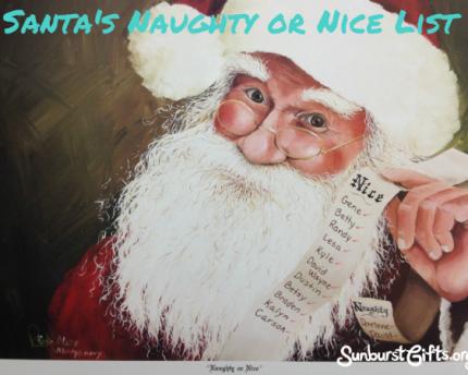 Santa's Naughty or Nice List Gift Idea