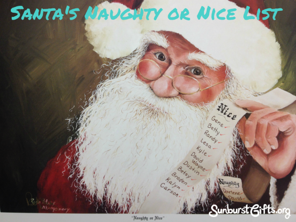 Santa's Naught or Nice List Gift Idea