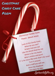 Candy Cane Poem Gift Idea for the Elderly