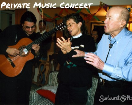 Private Music Concert Meaningful Gift Idea
