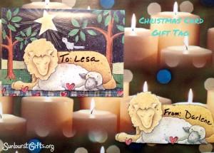 Christmas Card Gift Tag Gift Idea