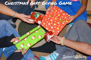 Christmas gift giving game Dirty Santa White Elephant Gift Exchange