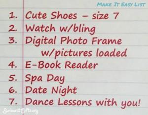 Make it Easy List Gift Idea