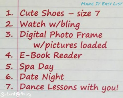 Make it Easy List Gift Idea