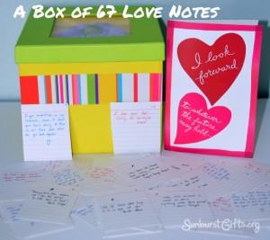 Most Romantic Present Box of Love Notes Gift Idea