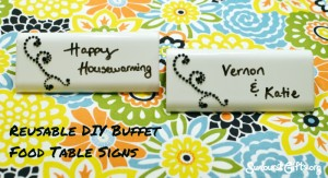 reusable DIY homemade buffet food table signs housewarming hostess gift idea