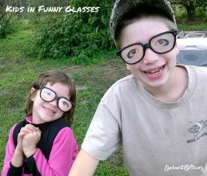 Funny Glasses Care Package Gift Idea
