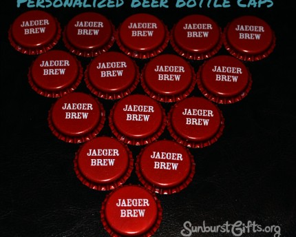 home brewer personalized beer bottle caps gift idea