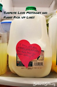milk does a body good funny pick up line gift idea