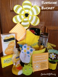 bucket of sunshine gift idea