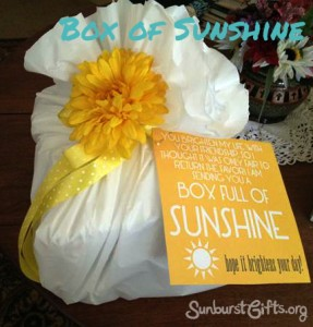 Box of Sunshine Get Well Gift Idea