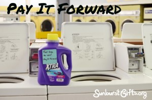 laundry detergent in laundromat