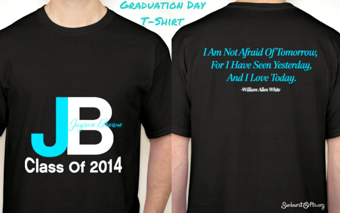 f8bfc379f Matching Graduation Day T-Shirts - Thoughtful Gifts | Sunburst ...