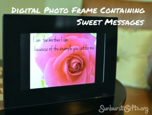 Digital Photo Frame Containing Sweet Messages