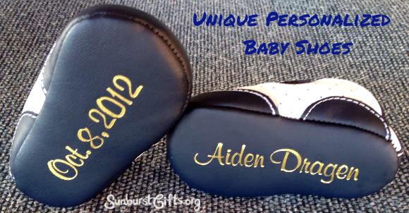 Unique Personalized Baby Shoes for Baby Shower - Thoughtful Gifts ...