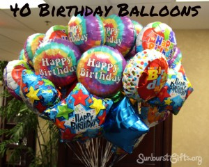 40 birthday balloons
