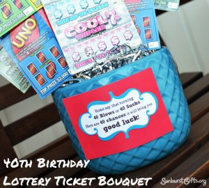 bouquet made of 40 lottery tickets