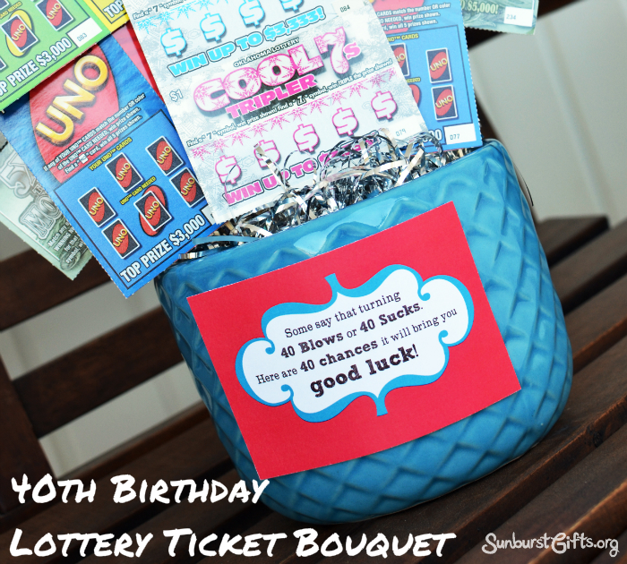 Lottery Ticket Bouquet | 40th Birthday Gift - Thoughtful ...