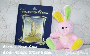 The Velveteen Rabbit book and a stuffed bunny
