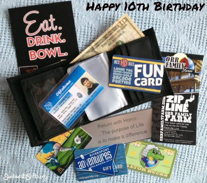 Happy 10th Birthday Experience Gift Idea Sunburst Gifts