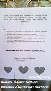 typed up letter taped to front door of house