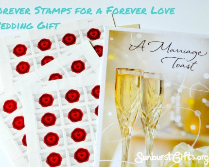 forever stamps with wedding card