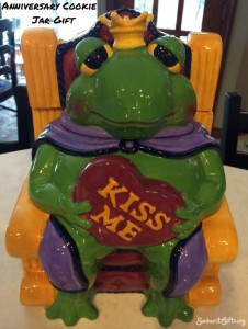 kiss me frog cookie jar