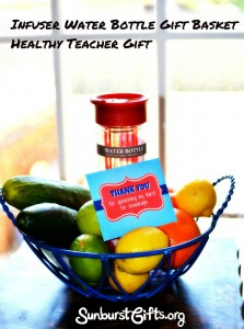 infuser water bottle gift basket for teacher