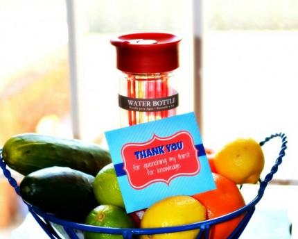 infuser water bottle gift basket for teacher