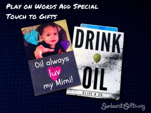 card using play on words paired with gift card