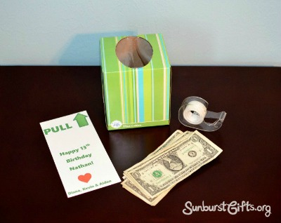 items needed to create birthday money box