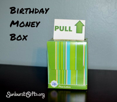 birthday money box