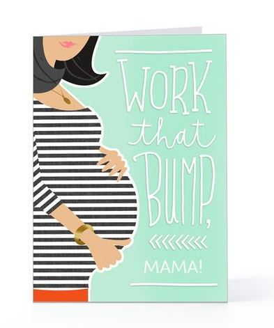 pregnancy baby bump contratulations card - Pregnancy Congratulations Card