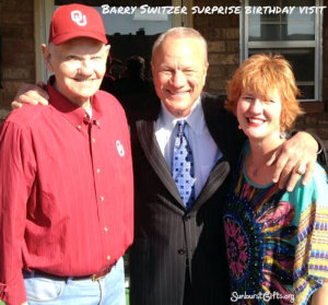 Barry-Switzer-surprise-birthday-visit-thoughtful-gift-idea