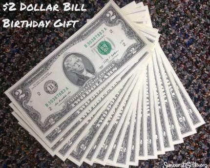 $2-Dollar-Bill-birthday-thoughtful-gift-idea