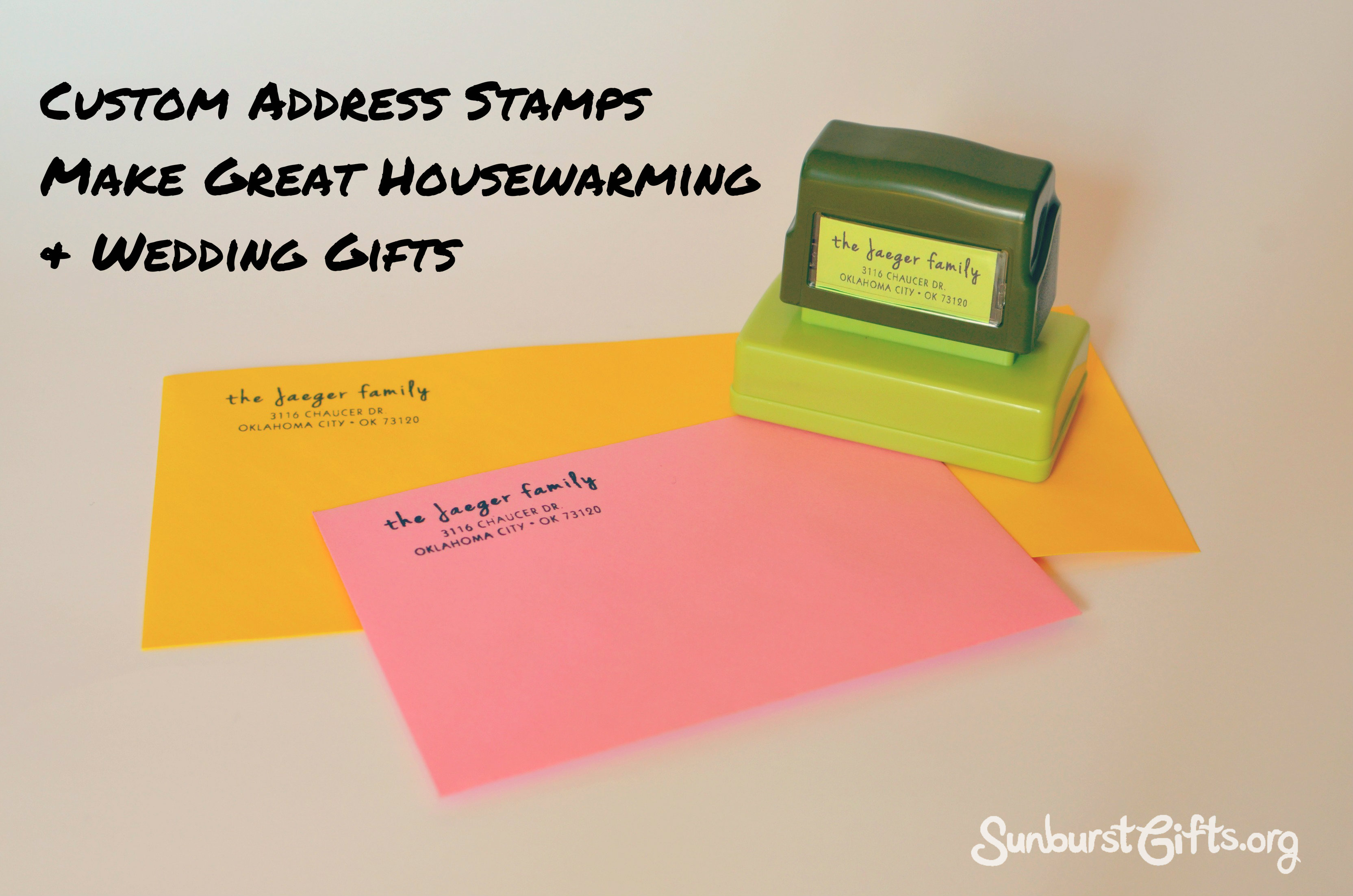 Address Stamps Make Great Housewarming Wedding Gifts