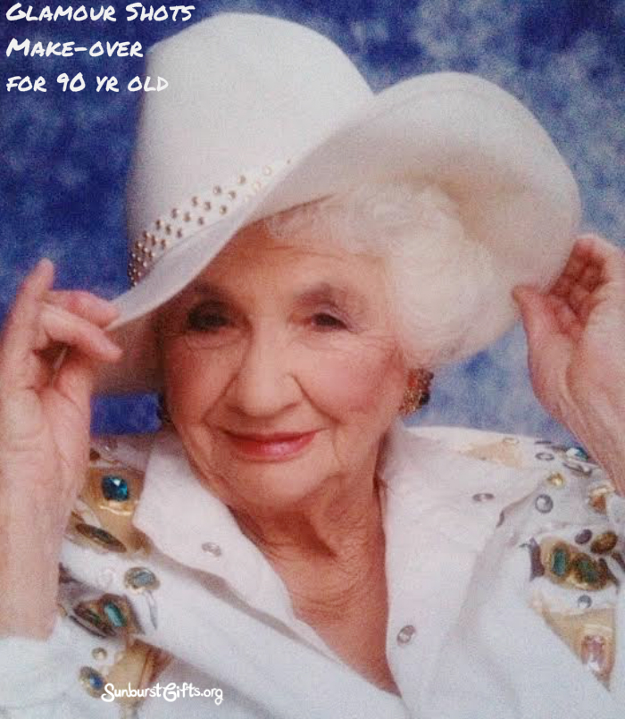 Glamour Shots Makeover For 90 Year Old Grandmother