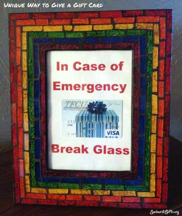 In case of emergency break glass money gift thoughtful gifts in case of emergency break glass debit card maxwellsz