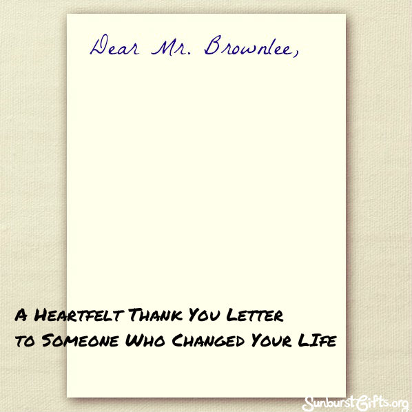 thank you Archives Thoughtful Gifts – Thank You Letter to Mentor