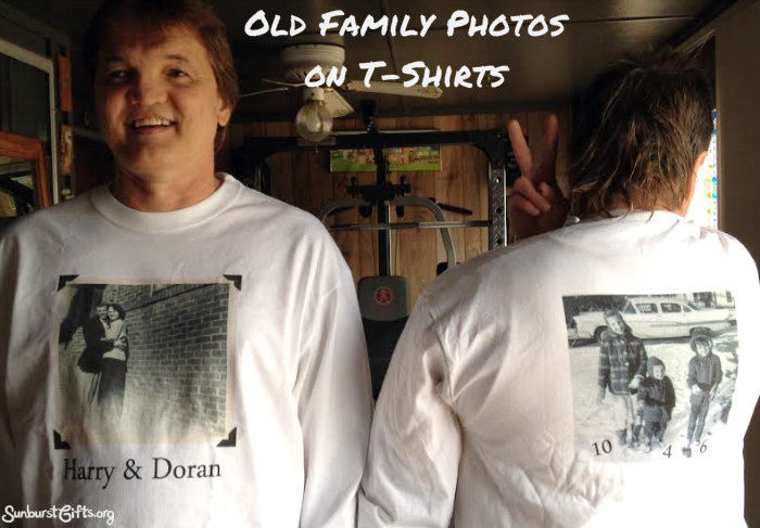 gift ideas for old family photos - Old Family s Made New on T Shirts Thoughtful Gifts