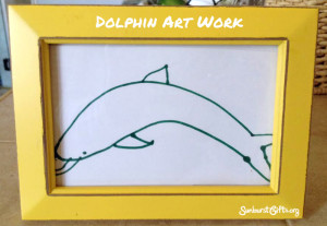 picture-frame-drawing-dolphin-thoughtful-gift-idea