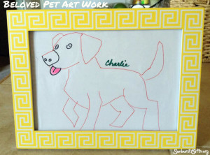 picture-frame-drawing-of-dog-thoughtful-gift-idea