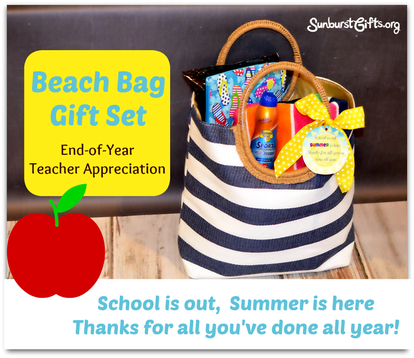 Teacher Appreciation Beach Bag Gift Set - Thoughtful Gifts ...
