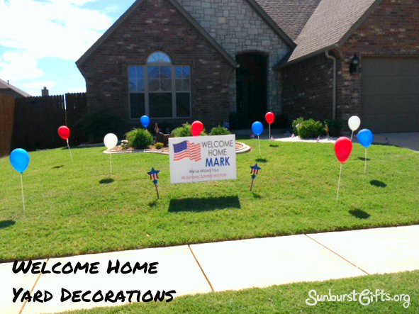 Welcome home yard decorations thoughtful gifts for Welcome home decorations ideas