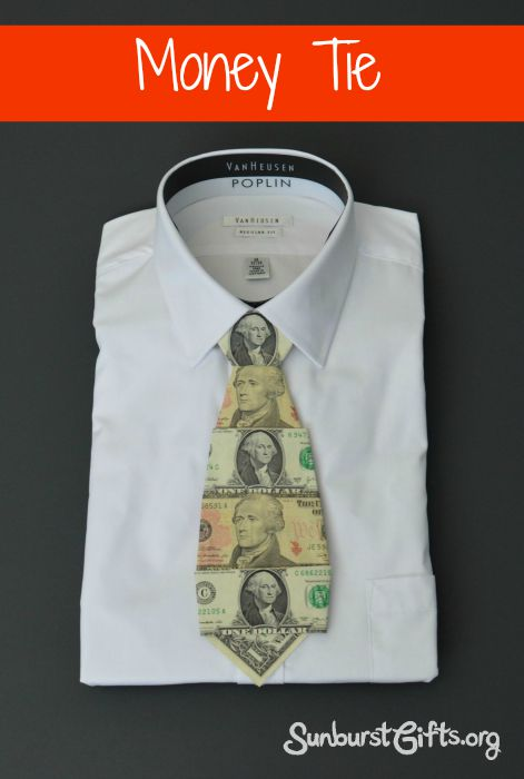 Going Rate For Wedding Gift Money 2015 : Money Tie - Creative Gift for Him - Thoughtful Gifts Sunburst ...