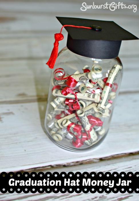 Graduation Hat Money Jar With Mini Diplomas Thoughtful Gifts Sunburst Giftsthoughtful Gifts Sunburst Gifts