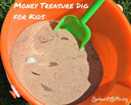 money-treasure-dig-kids-gift