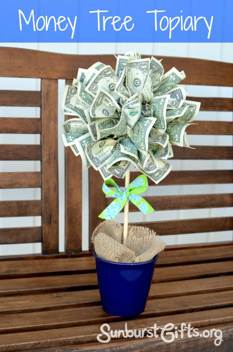 Easy Peasy Money Tree Topiary - Thoughtful Gifts | Sunburst ...